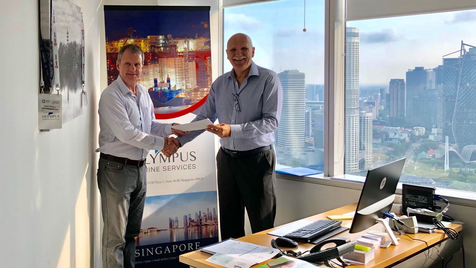Official Collaboration with OLYMPUS Marine Services in Singapore for a range of Auditing Works