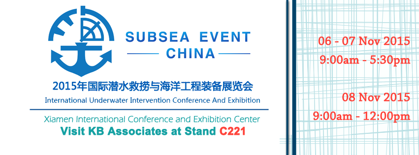 Visit KBA at Subsea Event China, International Underwater Intervention Conference and Exhibition