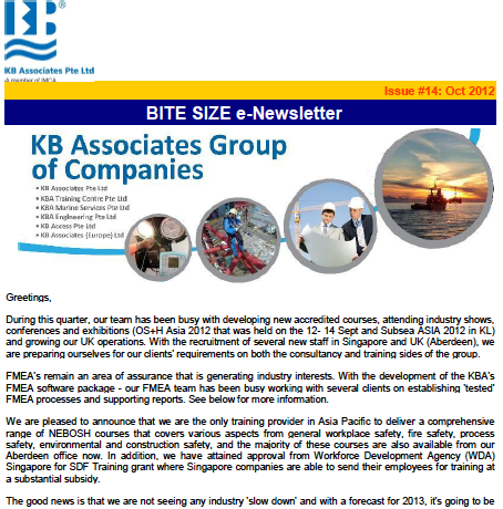 October 2012 Newsletter Issue #14