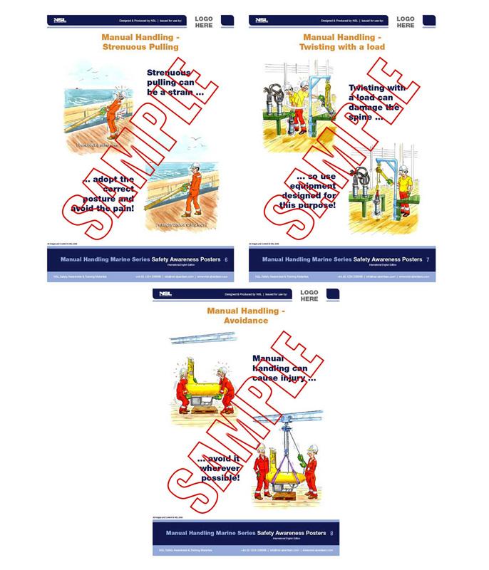 Manual Handling (Marine Vessels) : 8 posters in set