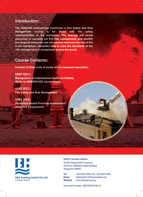 nebosh fire risk management essay Fire safety management is one of the most important aspects of fire safety in buildings in order to carry that out correctly, it is important to ensure that there is a fire safety management.