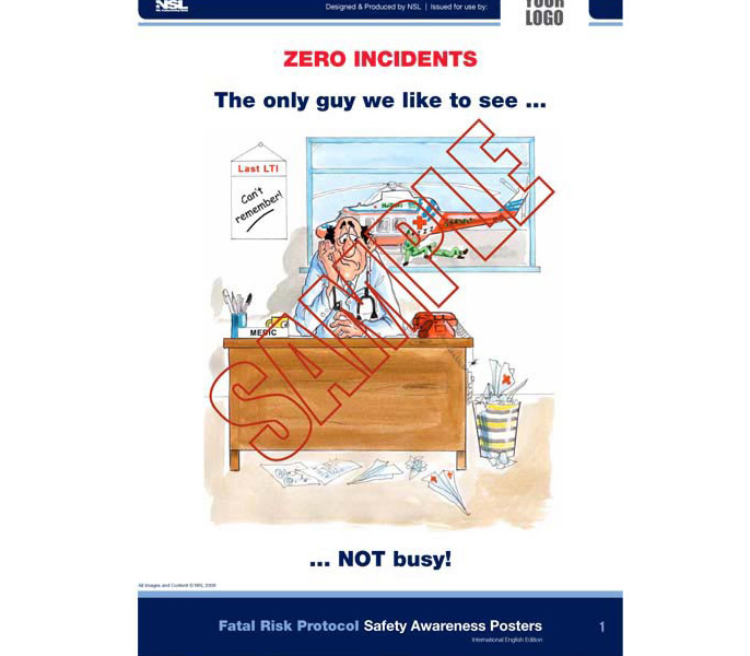 Fatal Risk Protocol: 32 Posters in set (UK English)