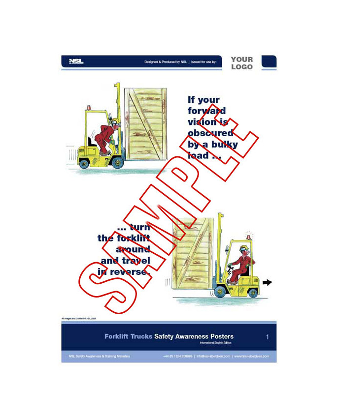 Forklift Trucks : 12 posters in set