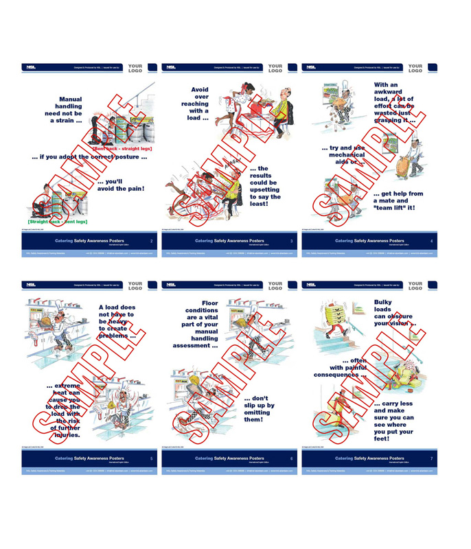 Manual Handling (Hotel & Bar Trade) : 12 posters in set