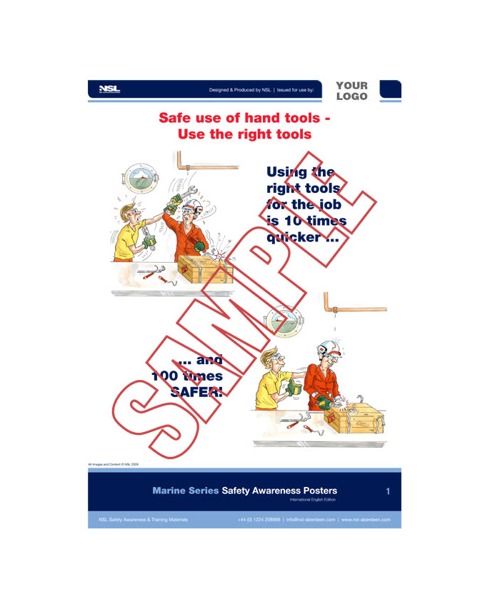 Manual Handling (Marine Series) : 14 posters in set
