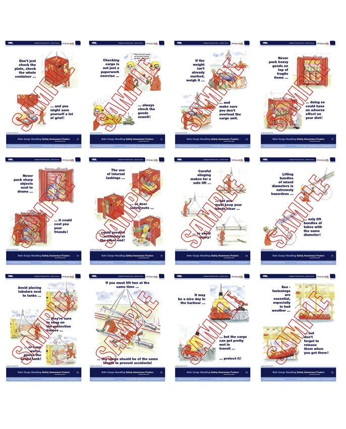 Safe Cargo Handling Oil & Gas UK : 36 posters in set