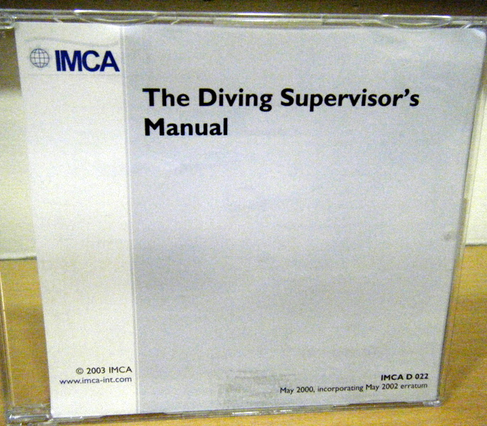 IMCA 022 The Diving Supervisor's Manual CD